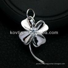 Women favorite flower shape 925 sterling silver pendant