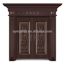 porte principale avant principale en acier de château de style européen fait sur commande avec le prix bas