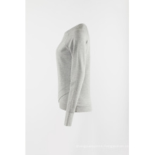 Grey knitting athletic pullover