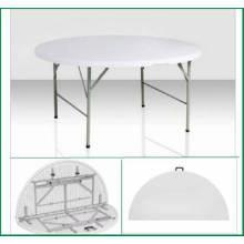 1.22m High Qualtity Plastic Plastic Folding Half Round Table (dining table HQ-ZY122)