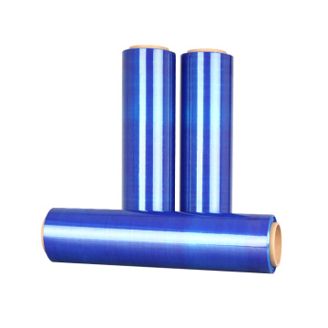Rouleaux de film transparent bleu extensible LLDPE