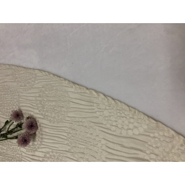 2018 Popular Reka Bentuk Baru Classic White Jacquard Table Cloth