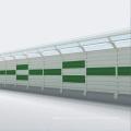 Cheap transparent metal traffic road noise barriers prices road aluminum bridge dispozitive noise barrier fence panels