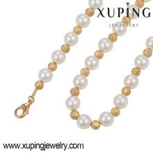 Collar elegante de la joyería del color oro de 18k con el grano Pearls-42930