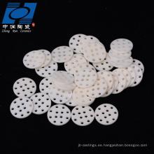 Virutas de cerámica de alúmina a medida industrial.
