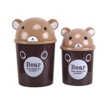 Black Bear Design Poubelle en plastique Flip-on (A11-5803)