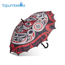 Cheap Straight Auto Open Chinese Opera 3D Digital Printed Custom Logo Umbrella For Gift
