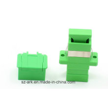Sc Adaptador de fibra óptica Simplex con obturador