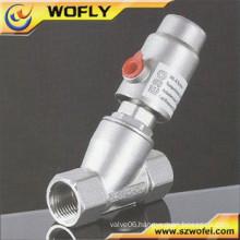 pneumatic angel seat valve