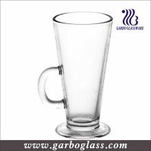 Tasse de café irlandaise de 260 ml, tasses en verre Cappuccino claires (GB093409)