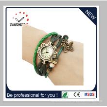 Las mujeres de moda Crystal Diamond pulsera Vintage Lady Quartz Watch (DC-1370)