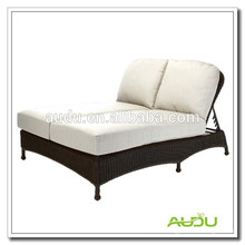 Audu - Cama de salón al aire libre doble hecha a mano de Sunbed