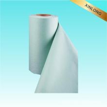 100% algodón blanqueado Tela no tejida