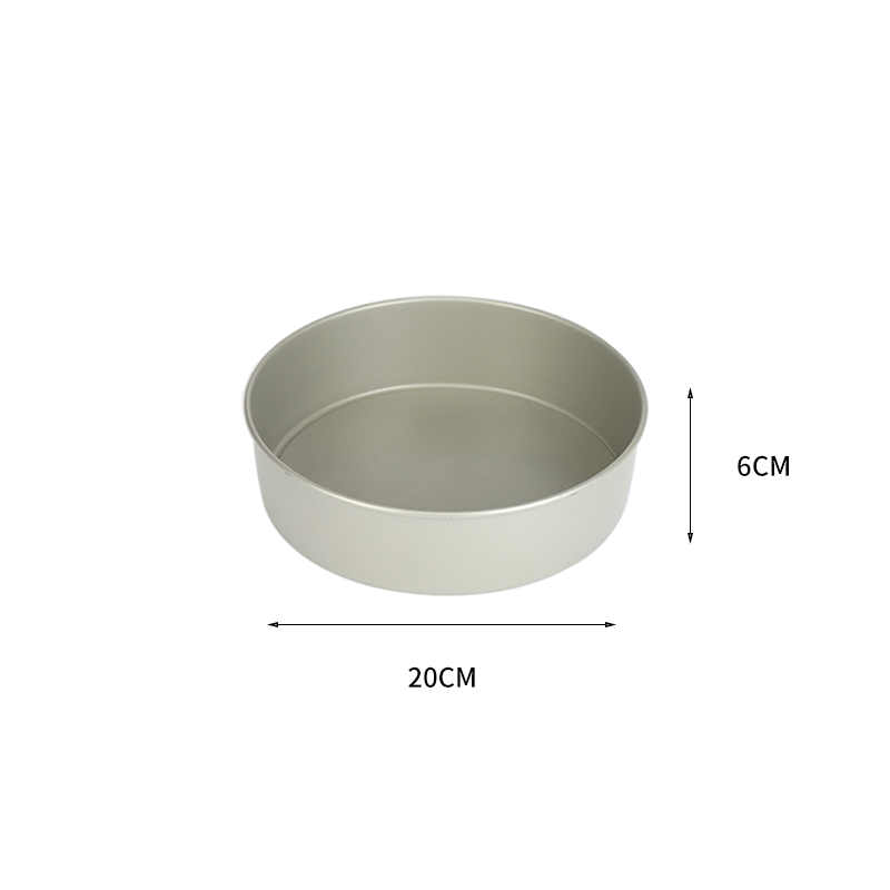 "8""carbon steel round cake pan with removable bottom (31)"
