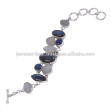 Labradorite And Multi Gemstone 925 Sterling Silver Bracelet Jewelry