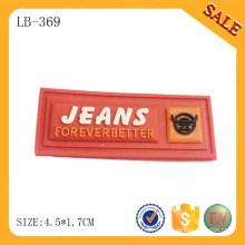 LB369 Пользовательские мягкой резины ПВХ мешок тег моды пользовательских логотип резиновый тег для одежды