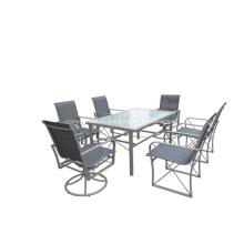 Открытый слинг 7pc мебель обеденной сет - 2 * 1 textilene