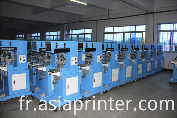 Single color tampo printer for LED lamps