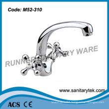 Double Handle Sink Faucet with Spout (M52-310)