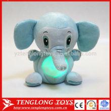 magic kids gift night light animal LED plush toy elephant