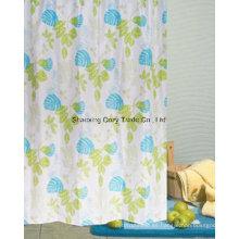 Hojas de diseño cortina de ducha de tela