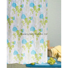 Leaves Design Fabric Shower Curtain