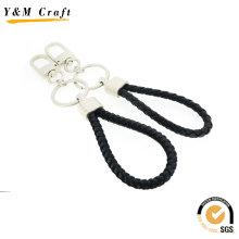 Maßgeschneiderte Heartshape Leder Schlüsselanhänger mit zwei Farben