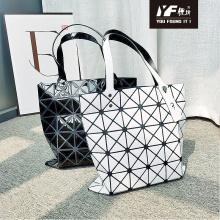 Индивидуальная многоразовая сумка-шоппер из пвх с дном и сумками на молнии, складная сумка для женщин