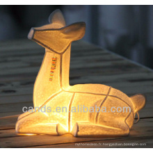 Lampe de table en céramique animale la plus vendue pour la décoration d'intérieur