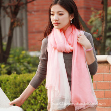 Silk & Modal Dipped Dyeing Shawl Fashion Scarf (12-BR030820-1.4)