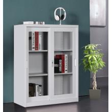 Gabinete pequeño de media altura con puerta corrediza de vidrio