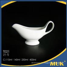 online shopping high quality hotel porcelain gravy boat