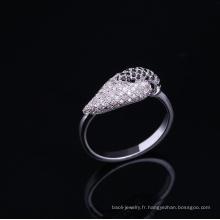 Anniversaire de mariage de 10 ans 925 bague en argent sterling plaqué avec pierre ca Bijoux plaqué rhodium est votre bon choix
