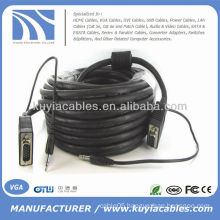 10FT SVGA VGA with 3.5mm audio male to male Cable For PC Projector
