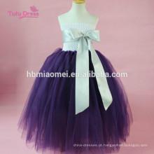 Fitas Tule Pageant Tutu Vestido Do Bebê Crianças Meninas Vestidos de Noite de Casamento Vestido de Festa de Aniversário Vestido de Princesa Traje