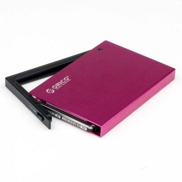 Multi-color 2.5 '' SATA HDD/SSD Exteranl Enclosure aluminum hdd case