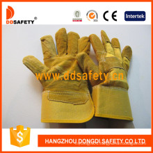 Ab Degree Ce Standard Yellow Cow Split Patch Palm Leather Welder Gloves Dlc203