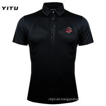 Feuchtigkeitstransportierendes Dry Fit Poloshirt Schwarz