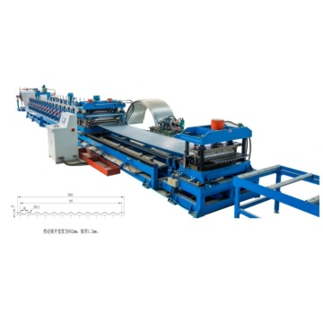 Corrugated Galvanized Curved Iron Machine untuk Grain Silo