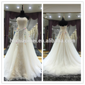 Modern Simple Elegant Plus Size Cheap Appliqued Beading Rhinestone Strapless Alibaba Tiered Chiffon Wedding Dress White