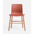 popular plastic chair with beech leg and footrest