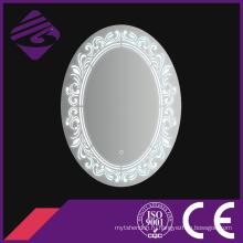Jnh226 дома горячей продажи овальная Мебель для ванной комнаты зеркало с часами