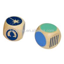 wooden dice set