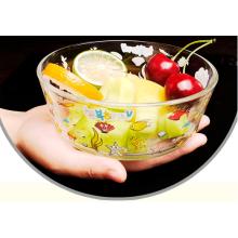 Haonai 600ml glass bowl mixing bowl custom printed bowl fruit bowl