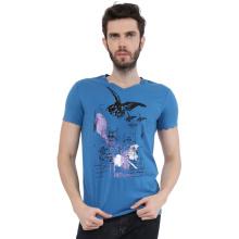 Unisex Ink Printing 95%Cotton 5%Spandex Short Sleeve T-Shirts