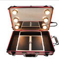 The Small Cosmetic Case with Light with Wheels (hx-q086)