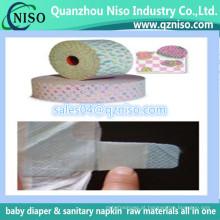 Fita não tecida mágica para tecidos descartáveis do bebê, fita lateral do gancho da matéria prima do tecido