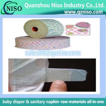 Cinta no tejida mágica para los pañales disponibles del bebé, cinta del lado del gancho de la materia prima del pañal