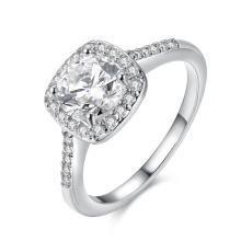 Мода циркон Платиновое кольцо элегантный дизайн для женщин Свадебные