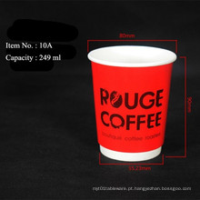 Alta qualidade Heat-isolados Double Wall Paper Cup